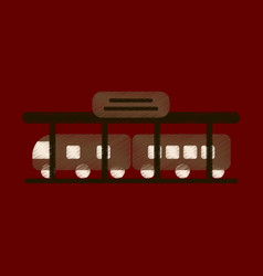 Flat icon in shading style train station vector
