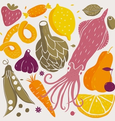 foods vector image