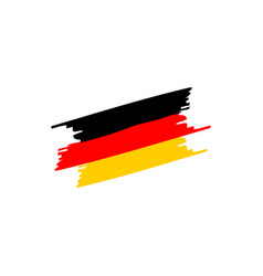 germany brush flag vector image