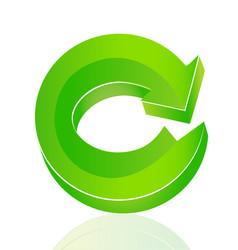 green arrow recycle icon vector image