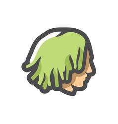 Guy with dreadlocks icon cartoon vector