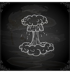 Hand Drawn Nuclear Explosion vector