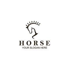 horse head icon vector image