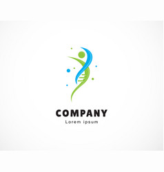 Human gen logo template design creative emblem vector