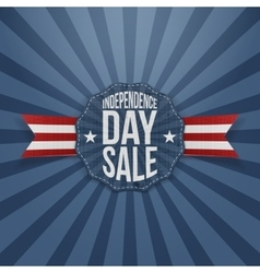 Independence Day Sale vintage Badge vector image