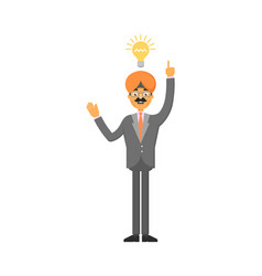 indian businessman idea generation for startup vector image