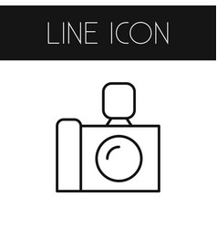 isolated photo apparatus outline camera vector image