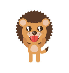 Kawaii lion animal toy vector