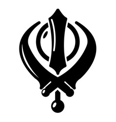 Khanda symbol sikhism religion icon simple style vector