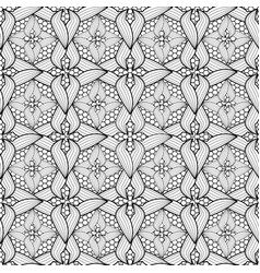lace ornamental black and white abstract vector image
