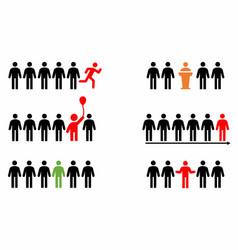 Leadership symbols vector
