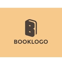 Letter B Book Logo vector