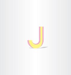 Logo letter j yellow symbol design element vector