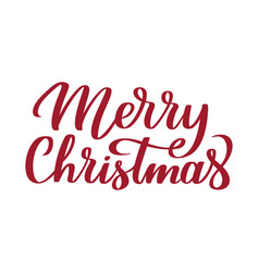 merry christmas - hand-written text vector image