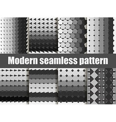 Modern seamless pattern set vector