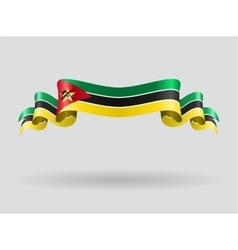 Mozambique wavy flag vector