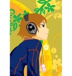 music boy vector image