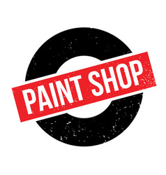 Paint shop rubber stamp vector