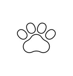 paw print line icon vector image