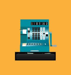 retro cash register front view vector image