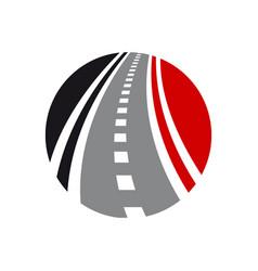 Roadway logo combination direction vector