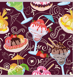 seamless ice cream vector image