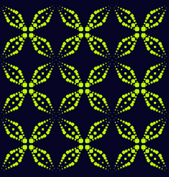 seamless pattern with neon dots sparkles crosses vector image