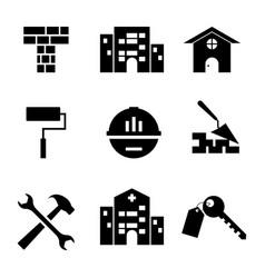 set building icon vector image
