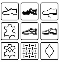 Shoes properties symbols vector