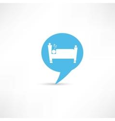 Sleeping man in blue speech bubble vector