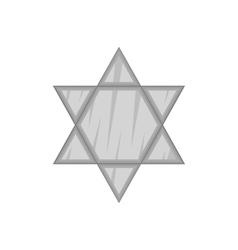 Star Of David icon black monochrome style vector