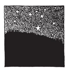 Stars in the night sky vintage vector