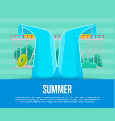 summer aquapark poster with water tube vector image