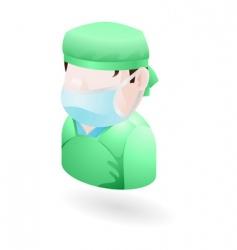 surgeon icon vector image
