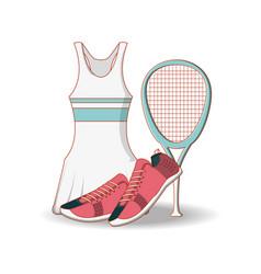 Tennis women clothing icon vector
