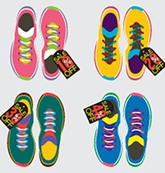 Top View Of Running Shoes vector image