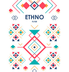 Vertical background with geometric ethnic ornament vector
