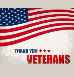 Veterans day in us vector