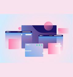 web pages design composition gradient network vector image