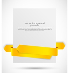 White banner with ribbon vector image
