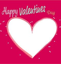 white heart valentines vector image