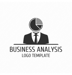 Business analysis logo template vector image vector image
