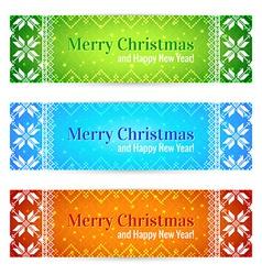 Christmas Sale Banners Set vector image