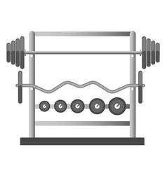 gym or fitness sport club chest press barbell vector image