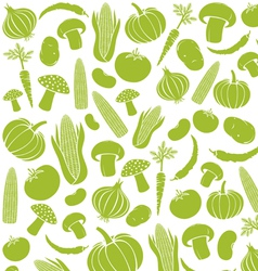 seamless pattern with vegetables vector image vector image