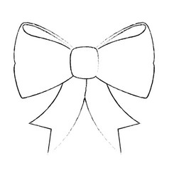 Decorative bow isolated vector