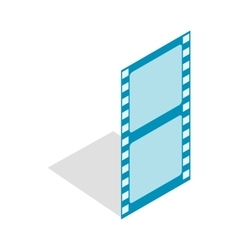 Film strip icon isometric 3d style vector image