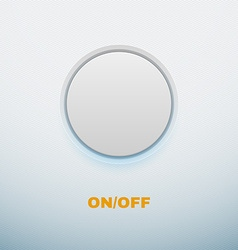 Realistic Button on White background vector image