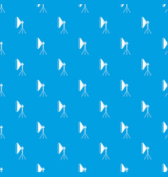 studio lighting equipment pattern seamless blue vector image