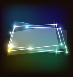 abstract background with colorful neon banner vector image vector image